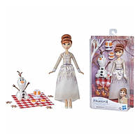 """Игровой набор Холодное сердце кукла Анна и снеговик Олаф """"Пикник"""" Frozen 2 Anna Disney Hasbro F1583"""