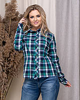 Жіноча стильна сорочка в клітку