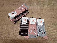 Жіночі шкарпетки високі комп'ютерні NIS асорті вушка,смужки,спортсменка, фото 1