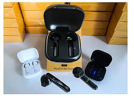 Бездротові сенсорні Bluetooth навушники з зарядним кейсом Realme T3 Чорні (Люкс копія)