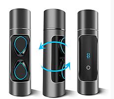 Бездротові сенсорні навушники гарнітура в кейсі з Power Bank з мікрофоном K08 Bluetooth