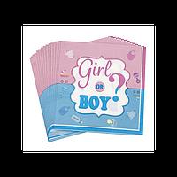 """Салфетки """"Girl or Boy?""""  (16 шт/уп)"""