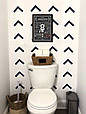 Плакат постер Правила туалета А4 в раме черной на стену на русском, фото 2