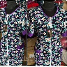 Літній трикотажний халат великі розміри 46 -68, фото 2