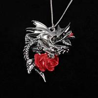 Подвеска Draca Rosa (Дракон с розой) ручная работа
