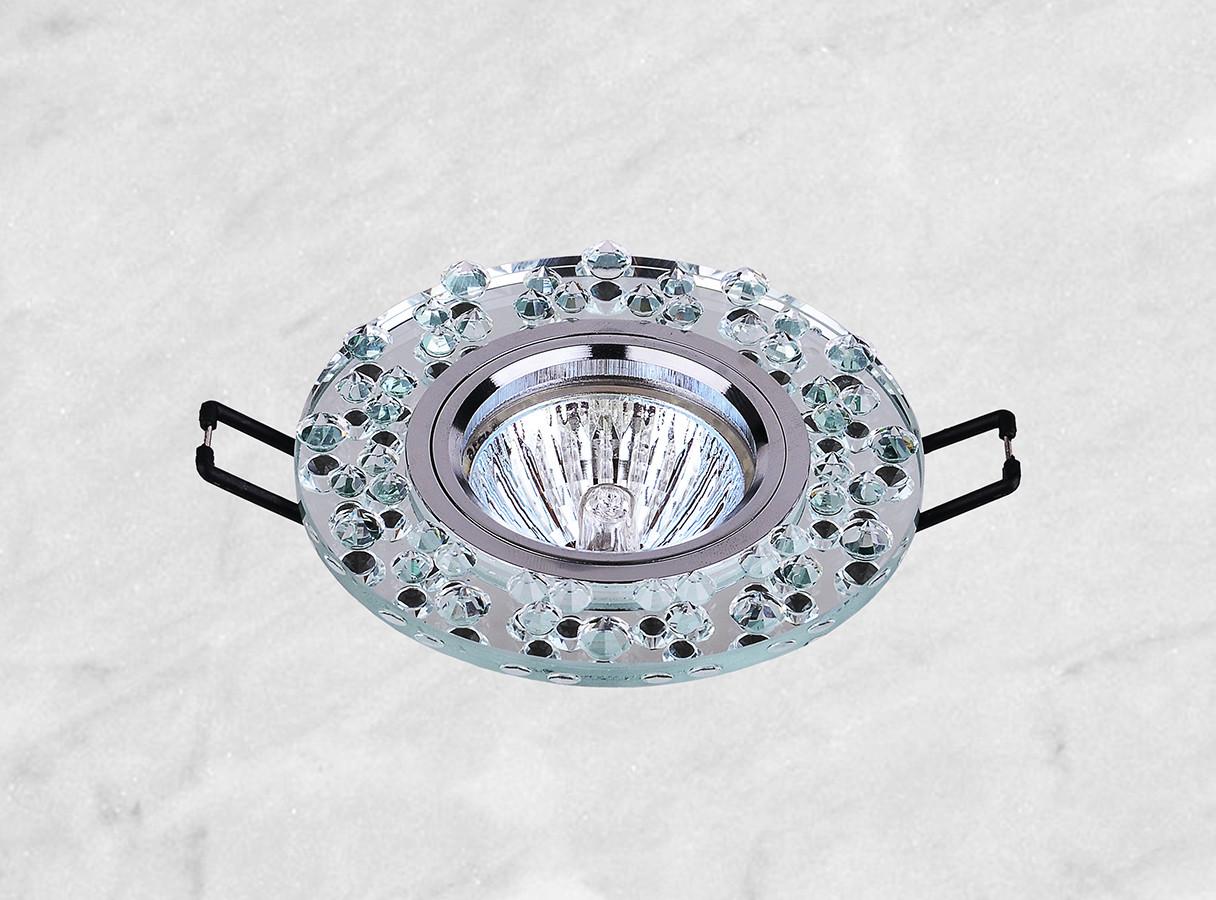 Точечный стеклянный врезной светильник (16-086)