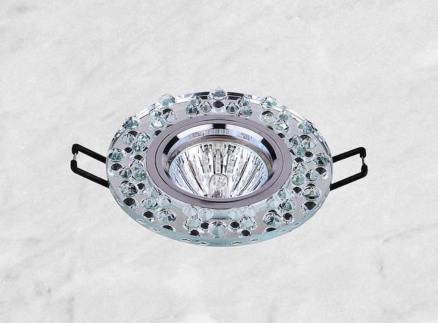 Точечный стеклянный врезной светильник (16-086), фото 2