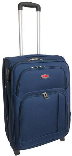 Средний тканевый двухколесный чемодан 65 л. Suitcase 913754 синий, красный, серый, хаки, черный, св.синий