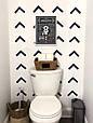 Плакат постер Правила туалету А4 в рамі білій на стіну українською, фото 2