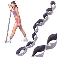 Эспандер лента с петлями (для растяжки) резиновая эластическая лента эспандер 8 петель