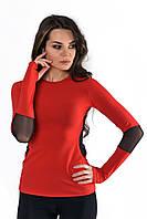 Красный женский рашгард L = 46-48 р оптом  купить в интернет магазине