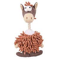 Игрушка для собак ослик  лохматый с канатом Trixie (Трикси), 28 см