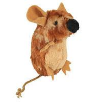 Игрушка для кошек Мышь плюшевая с пищалкой Trixie, 8 см