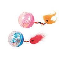 Игрушка для кошек Мяч пластиковый с колокольчиком Trixie, 4 см