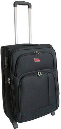 Большой тканевый двухколесный чемодан 95 л. Suitcase 913755 чёрный