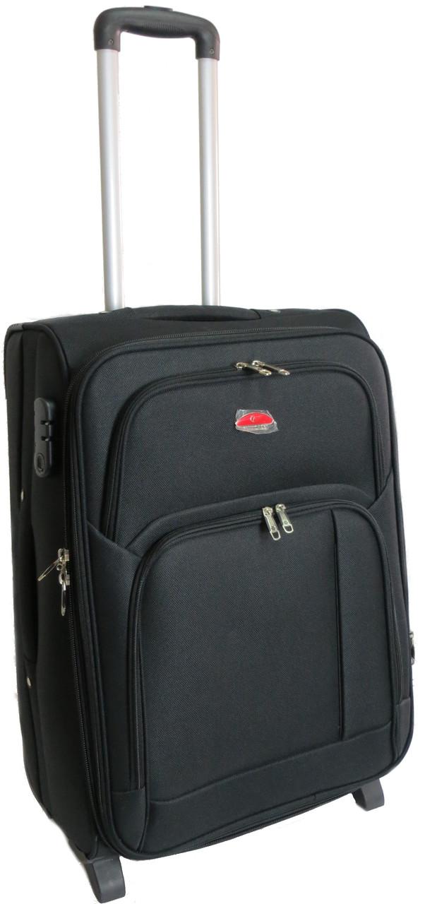 Средний тканевый двухколесный чемодан 65 л. Suitcase 913754 чёрный