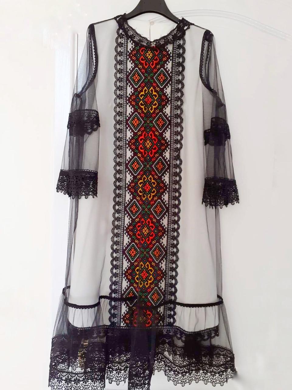 Надзвичайна вишита сукня ручної роботи, якість Вас ошелешить