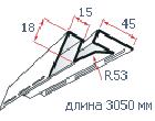 """Угол внутренний (3,05м) к сайдингу """"Альта Сайдинг"""""""
