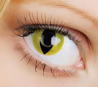 Линзы Кошачьи глаза (жёлтые)