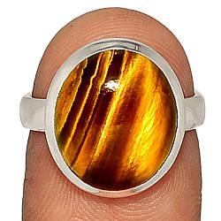 Срібне кільце з тигровим оком, 2650КЦТ