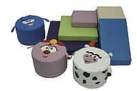 Игровой набор с горкой и пуфами Смешарики, фото 1