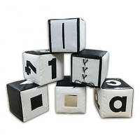 Набор кубиков черно-белый