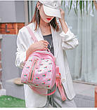 Рюкзак девушка искусств кожа Рюкзак женский новый стильный универсальный школьный дорожный для через плечо опт, фото 2
