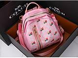 Рюкзак девушка искусств кожа Рюкзак женский новый стильный универсальный школьный дорожный для через плечо опт, фото 4