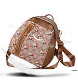 Рюкзак девушка искусств кожа Рюкзак женский новый стильный универсальный школьный дорожный для через плечо опт, фото 9