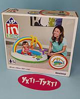 Детский бассейн с игрушками, Радуга, 91х56 см, Bestway 52239