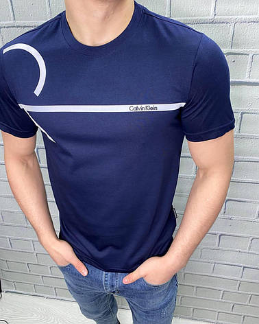 Футболка Calvin Klein Темно-синій L, фото 2