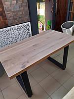 Обідній стіл з масиву дуба колір вибілений, фото 1