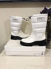 Черевики \ білі чоботи \ білі черевики \ Calvin Klein Laeton Cow Kansas 38