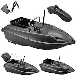 Прикормочный кораблик для рыбалки с пультом с 1 бункером | Лодка катер для прикормки рыбы на радиоуправлении