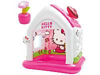 Игровой центр домик Hello Kitty с надувными игрушками  Intex 48631
