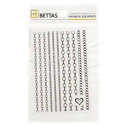Ленты для дизайна ногтей Habibi №2 (черные цепи)