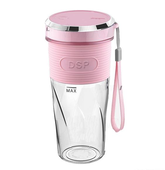 Блендер USB DSP KJ2087-Pink портативний | Шейкер для смузі | Міні-юсб блендер