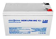Аккумуляторная батарея Logicpower 12V 7 Ah (LPM-MG 12 - 7 AH) AGM мультигелевый, фото 1