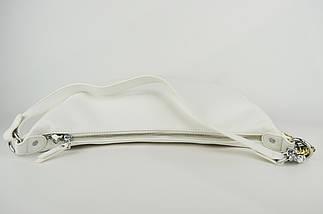 Сумка півмісяць Polina&Eiterou 9352 Білий шкіра, фото 3