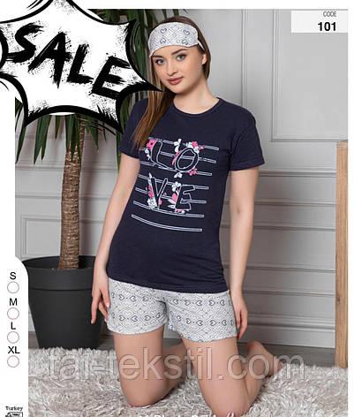 Пижама молодежная футболка и шорты хлопок 100% Турция № 101, фото 2