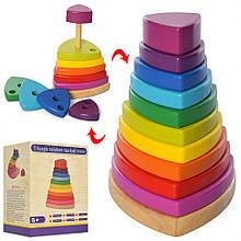 Дерев'яна іграшка Пірамідка MD 2755 фігурки 10 шт