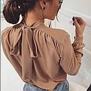 """Красива ошатна жіноча блуза з бантом на спинці """"Jubilation"""", фото 3"""