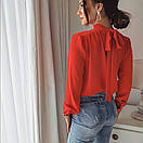 """Красива ошатна жіноча блуза з бантом на спинці """"Jubilation"""", фото 4"""