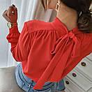 """Красива ошатна жіноча блуза з бантом на спинці """"Jubilation"""", фото 5"""