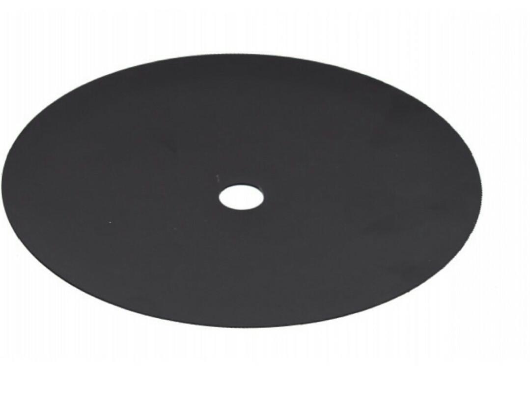 Блюдце для Кальяна цвет  чёрное 18 см внутренний диаметр 2 см