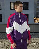 Ветровка-зиппер мужская Пушка Огонь Split фиолетово-розовая
