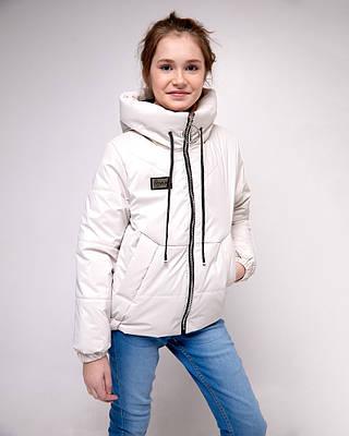 Эклер белая детская подростковая демисезонная куртка на девочку