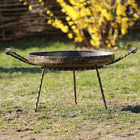 Сковорода из диска бороны 50 см, кованая для жарки