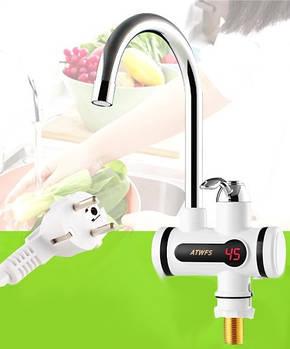 Проточный водонагреватель с экраном(нижнее подключение)