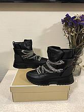 Ботинки \ кожаные сапоги \ кожаные ботинки \ высокие сапоги Michael Kors Cassia Bootie 38